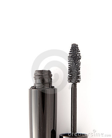 Black mascara on white background