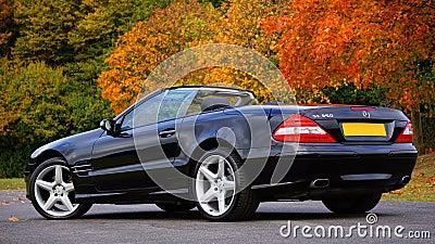 Black Mercedes Benz Convertible On Gray Concrete Floor Free Public Domain Cc0 Image