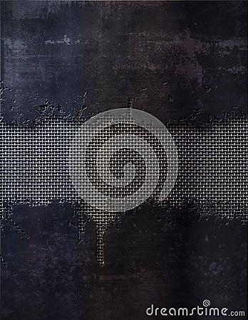 Black and metal screen