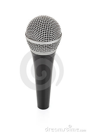 Black metallic microphone for voice recording
