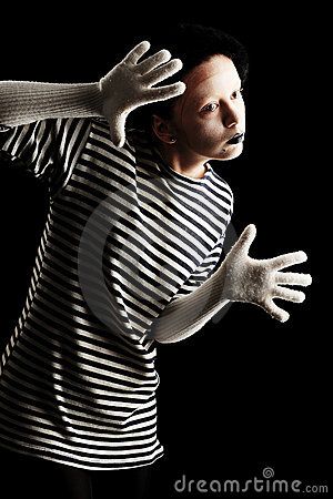 Free Black Mime Royalty Free Stock Photography - 11000587