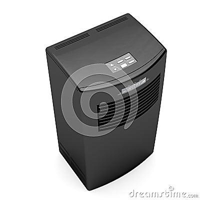 Black mobile air conditioner