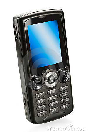 Black mobile cell phone