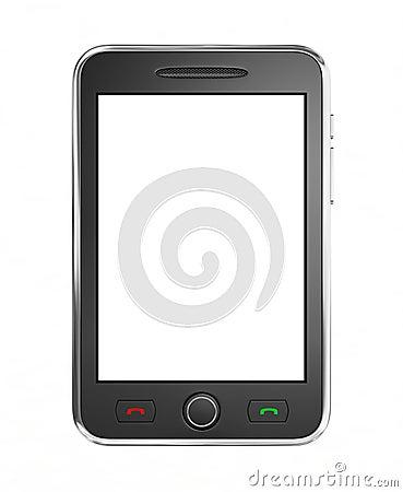 Black mobile smart phone