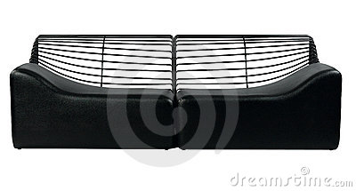 Black modern design of sofa