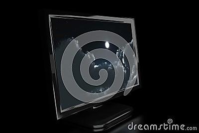 Black monitor in the dark 6