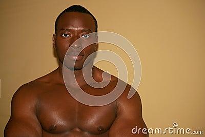 Black muscular man
