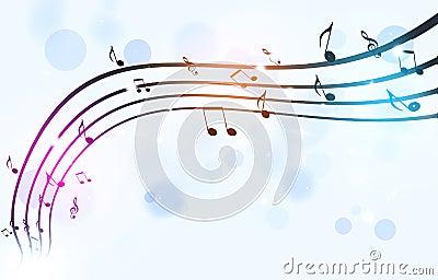 Black Music Notes on White Background