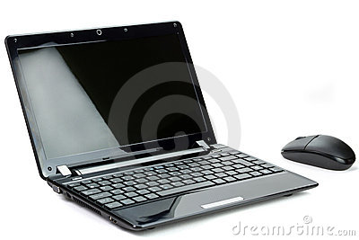 Black netbook