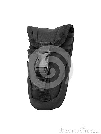Black nylon holster style pouch
