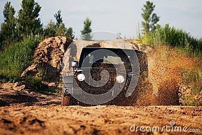 Off road car in mud