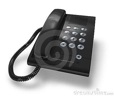 Black office phone