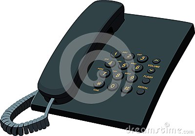 Black office stationery telephone