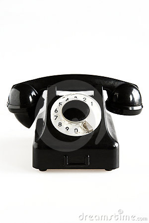 Black Old Fashioned Phone Stock Image