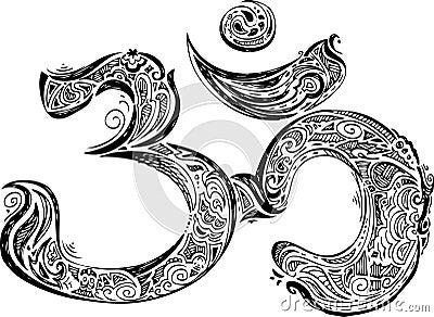 Coloring Black Om symbol