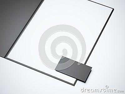 Blank Opened Folder Stock Photography - Image: 13039862