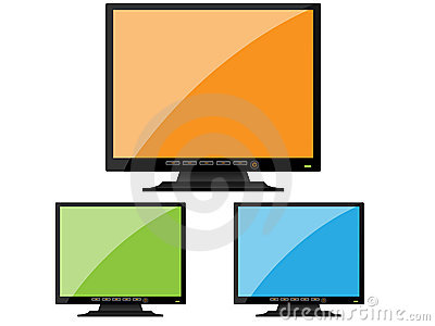 BLack orange monitor