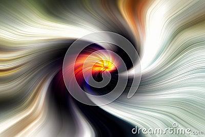Black and Orange Twirl
