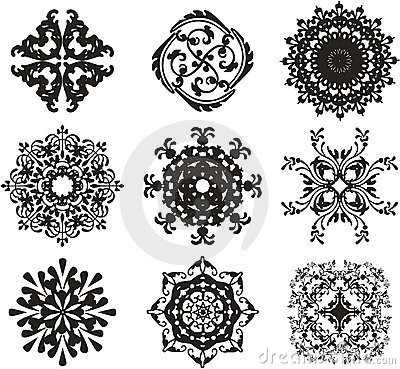 Free Black Ornament Illustration Royalty Free Stock Images - 2101789