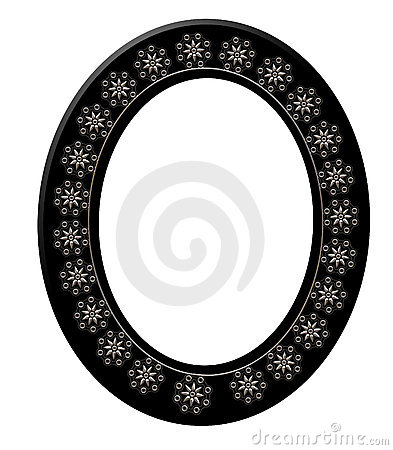 Black Oval Picture Frame 3D