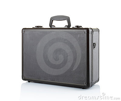 Black padded aluminum briefcase