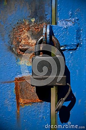 Black padlock