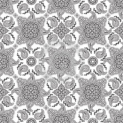 Black paisley pattern