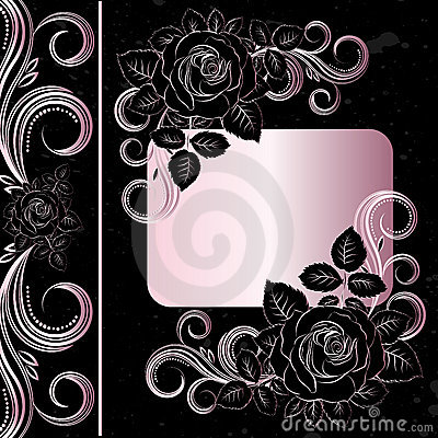 Black and pale pink flowers decoration