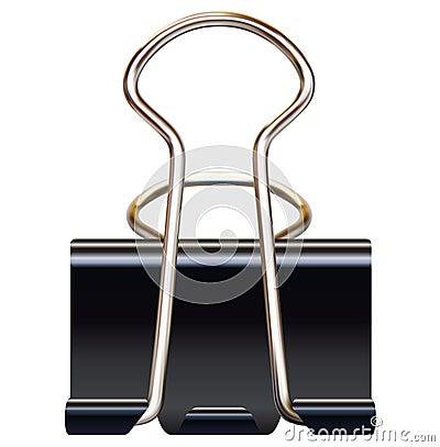 Free Black Paper Binder Clip Stock Photos - 33326793