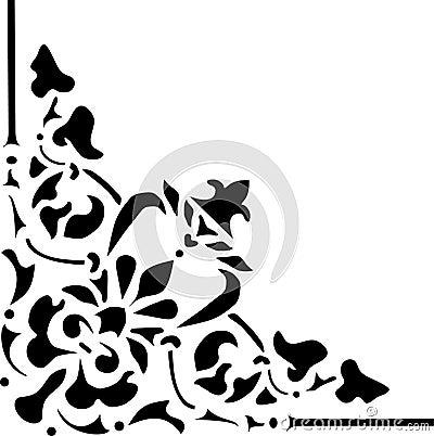Black pattern wit triangular corner