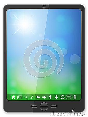 Black pc tablet