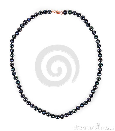 Free Black Pearl Necklace. Royalty Free Stock Photo - 61959895