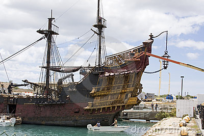 The Black Pearl Ship in Hawaii Editorial Image