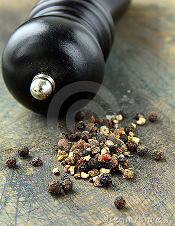Black pepper and black pepper-mill