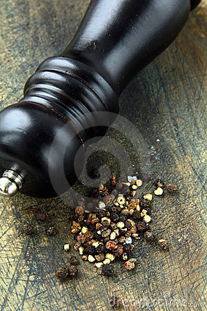 Black pepper and black pepper-mill