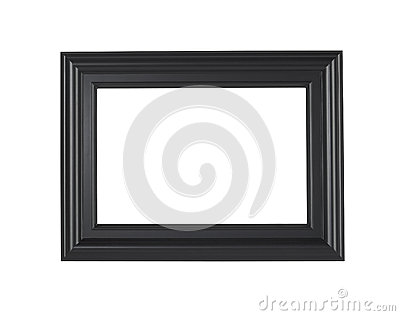 A black picture frame, isolated with clipping path