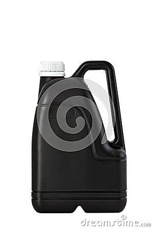 Black plastic canister