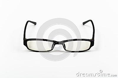 black plastic frame glasses