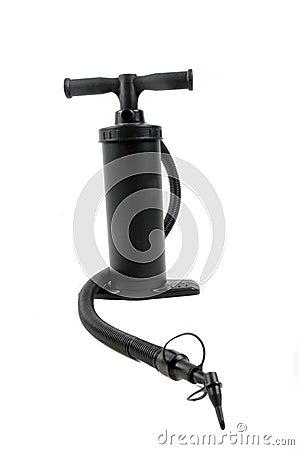 Black plastic pump