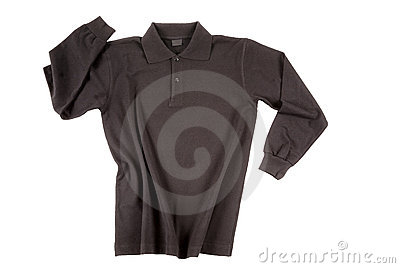 Black polo shirt long sleeve