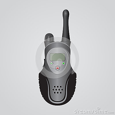 Black portable radio transmitter