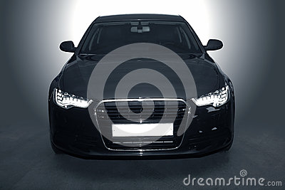 Black powerful sports car