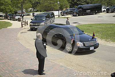 Black Presidential Limo Editorial Stock Photo