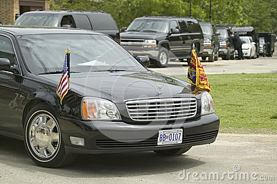 Black Presidential Limo Editorial Photography