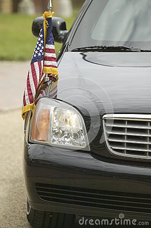 Black Presidential Limo Editorial Photo
