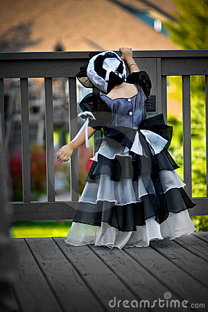 Black princess dress and bonnet