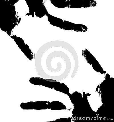 Black prints of hands