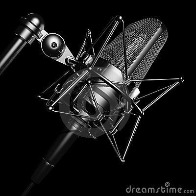 Black professional microphone