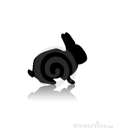 Free Black Rabbit Royalty Free Stock Photos - 5274918
