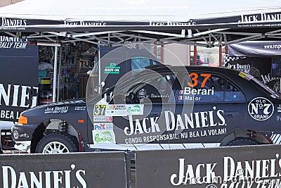 Black rally car Editorial Photography